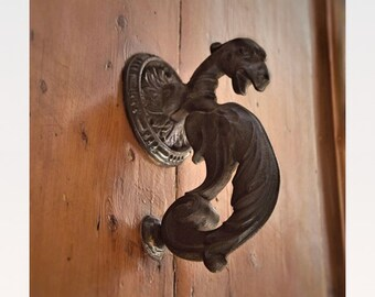 Dragon Door knocker, Rustic Wall Decor, Architecture prints, doorway photo, entry house, Fine Art