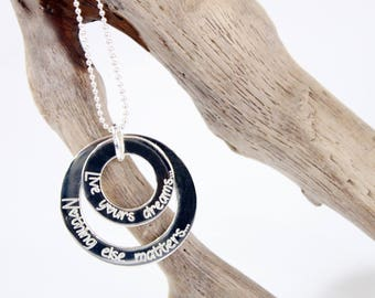 Necklace / Sautoir Donuts double 925 sterling silver * custom Creation * with engraving