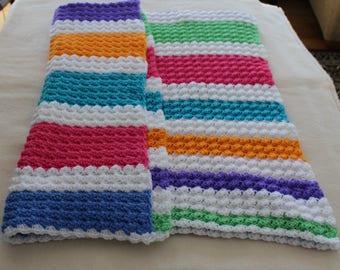 Crochet Afghan, Colorful Afghan, Lap Afghan