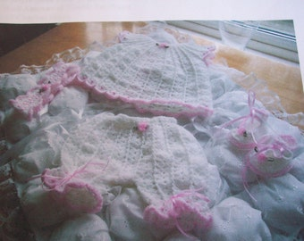 Crochet    Pattern for    Angel top, trousers, headband and bootie shoes