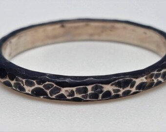 Hammered oxidized 925 Silver ring