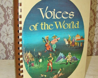 Illustrated Music Book. MCM Graphics. Voices of the World. Vintage. Music Teacher's Book. 1960s.