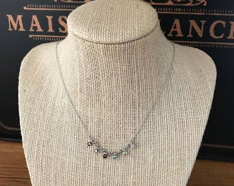 Vintage Small Rhinestone Bib Necklace