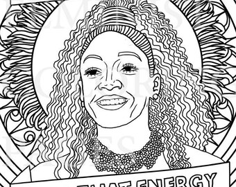 Michelle Obama First Lady Feminist Coloring Portraits