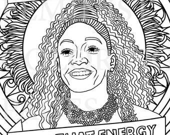 Tiffany Haddish, Portraits, Coloring Pages For Adults, Colouring Pages,  PDF, Printable