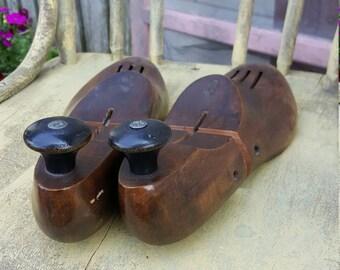 Vintage Dark Wooden Shoe Lasts/ Stretchers/ Trees ST1