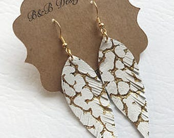 Angel Wing Leather Earrings