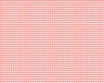 Riley Blake Designs, Small Gingham in Coral (C440 54)