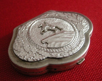 Vintage Russian Compact Powder and Mirror Flip Catch 1960's