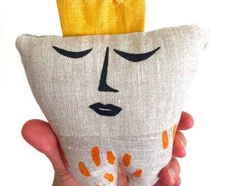 Tooth Fairy Pillow with Orange Spots