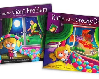 INSTAGRAM OFFER - Katie and the Giant Problem / Katie and the Greedy DragonSigned Children's Book ~ Gift-Boxed ~ Picture Book ~ Kids Book