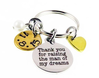 Wedding Gifts - Mother of the Groom Gift - Custom Key Chain - Mother of the Groom - Mother Wedding Day Gift - Gifts - Expressions Bracelets