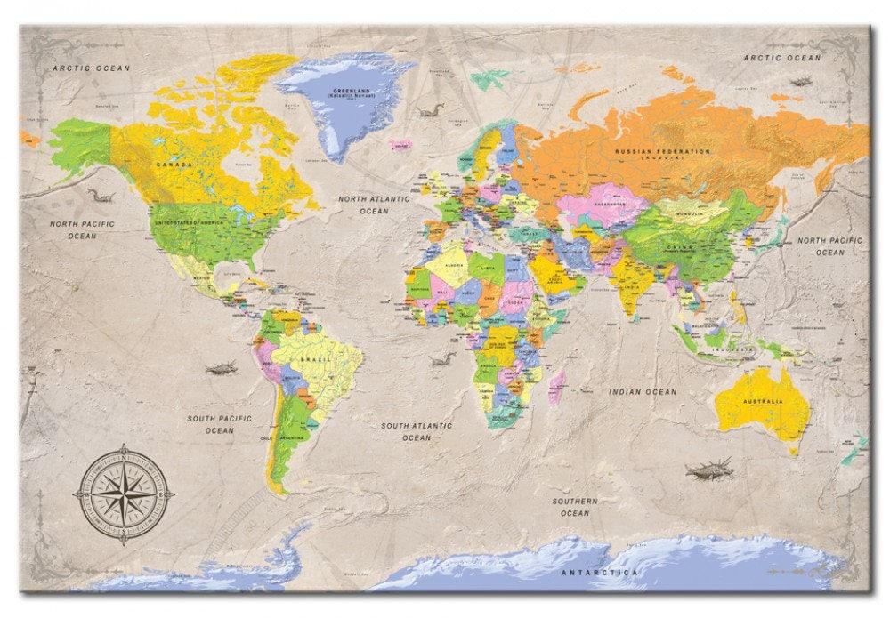 Tableros Decoración pared mapa de pared mapa de viaje