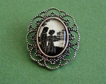 PRIDE AND PREJUDICE Brooch - Silhouette Jewelry