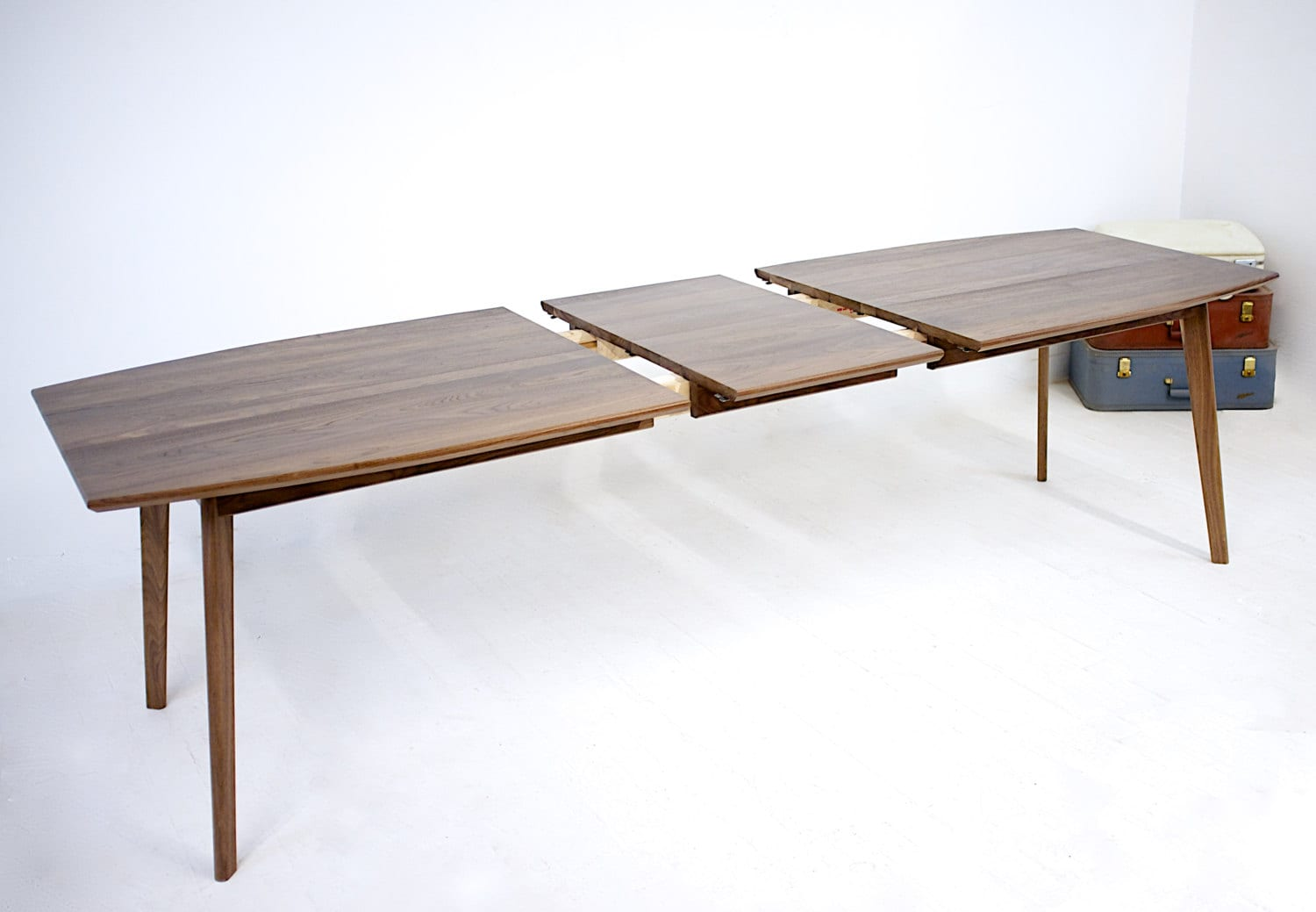 Extension Dining Table Midcentury Modern Walnut