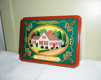 Vintage Original Toll House Cookie Tin, cookie tin, retro storage tine, collectible tin, vintage tin