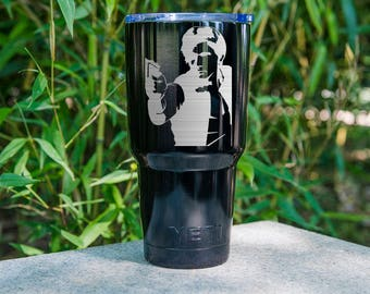 Star War Yeti Star Wars han solo Etched, Star Wars han solo Personalized Gift for Women, han solo Birthday Gift for Him han solo Fan