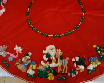 3D Felt Christmas tree skirt