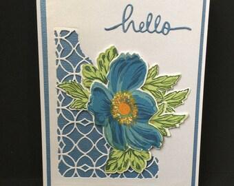 Flowered 3 dimensional Greeting Card