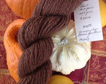 Dark fawn alpaca yarn, one skein, handspun