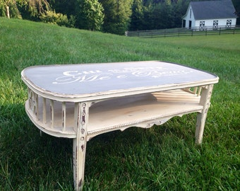 SOLD Hand-painted Reclaimed Vintage Coffee Table