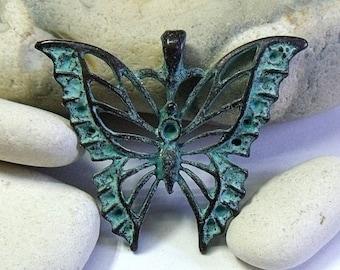 Greek Mykonos Butterfly Pendant