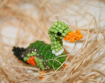 Beaded animals: duck beads