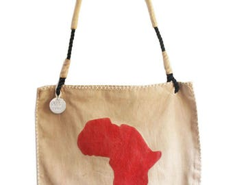 Ali Lamu Shopper Africa Red