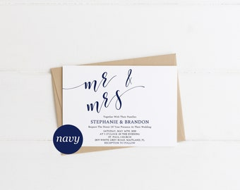 Mr and mrs invite Etsy