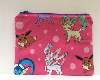 Sandwich Bag, Zippered Snack Bag Boy, Food Bag Zipper Bag, Essential Oil Bag - Pokemon
