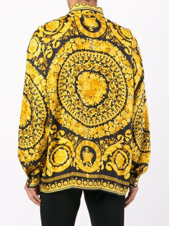 Gold And Black Versace Shirt