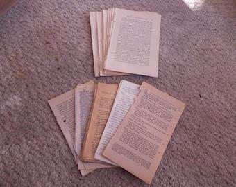 120 vintage book pages junk journals destash paper supply scrapbooks cards crafts decoupage collage mixed media altered art Julieannmade