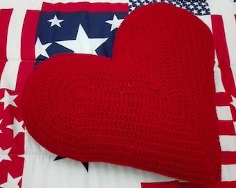 Decorative heart crochet pillow case, crochet heart throw pillow case, heart crochet cushion, heart shaped crochet pillow, Mother's day gift