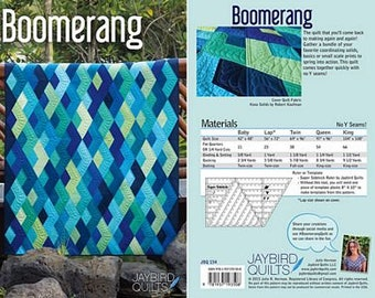 Boomerang by Jaybird Quilts - Paper Printed Pattern
