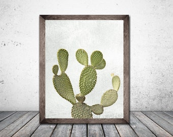 Cactus Print  Cactus art Botanical Print Plant Print  Printable Art Print Download