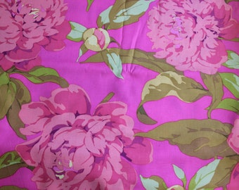 Kaffe Fassett Collective - Martha Negley PWMN059 Farmington May Peony (Pink) Fabric for Rowan/Westminster - OOP - By The Yard