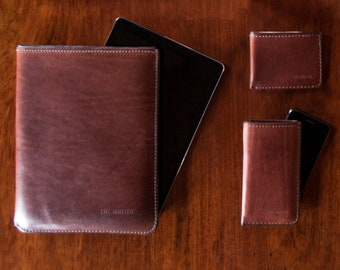 Leather iPad Sleeve // Tablet cover // Gadget holder // DE BRUIR