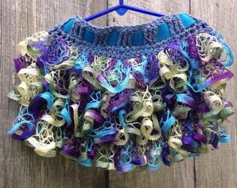 Girls ruffle lace skirt