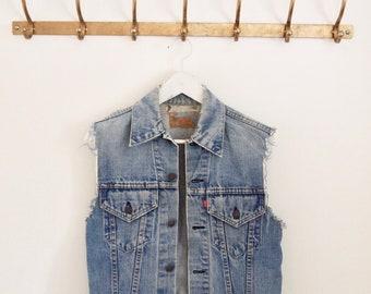 Vintage 90er Jahre DEPRIMIERT LEVIS Jeansweste