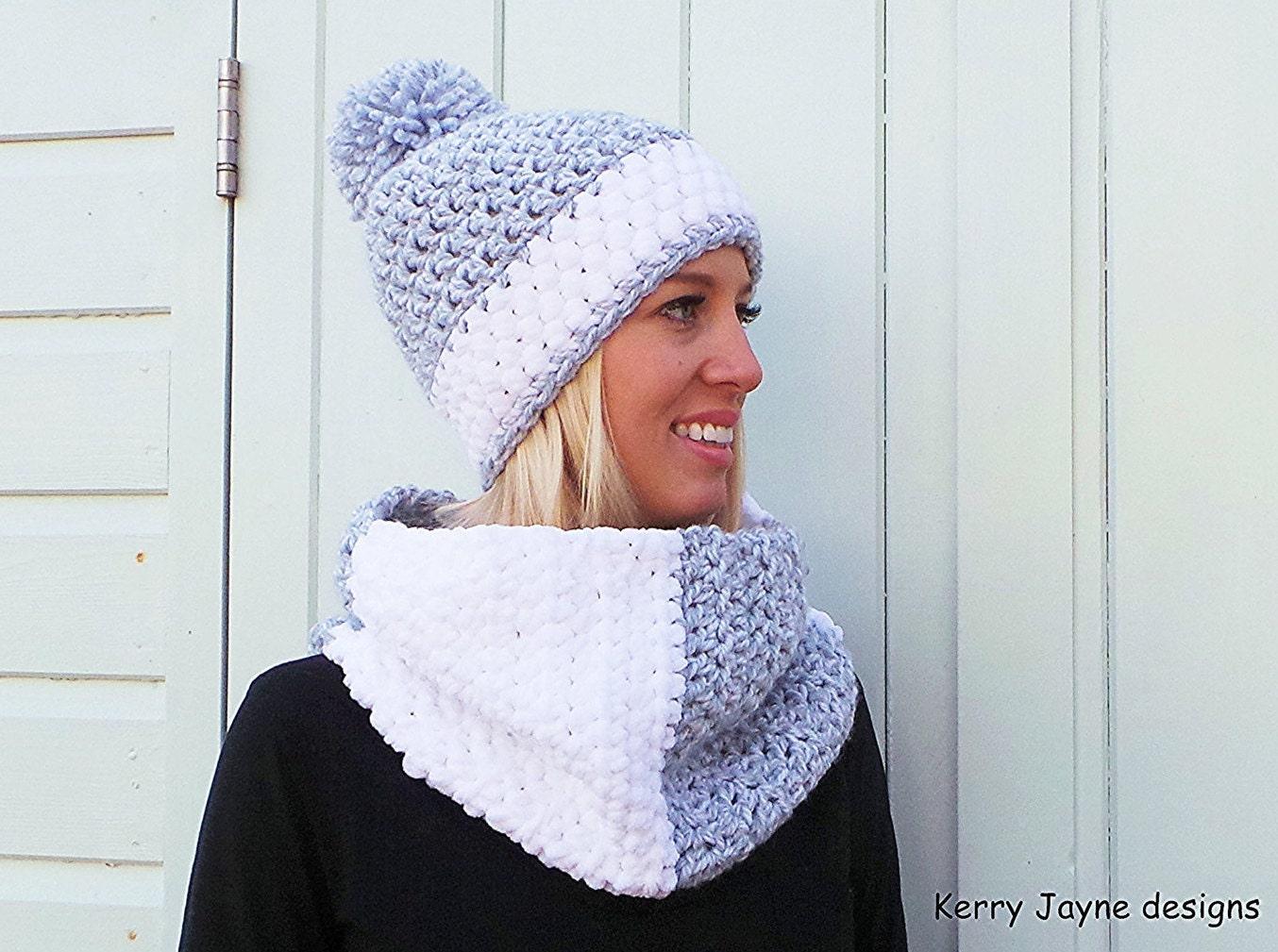 WOMENS CROCHET HAT pattern Crochet Cowl pattern Winter hat