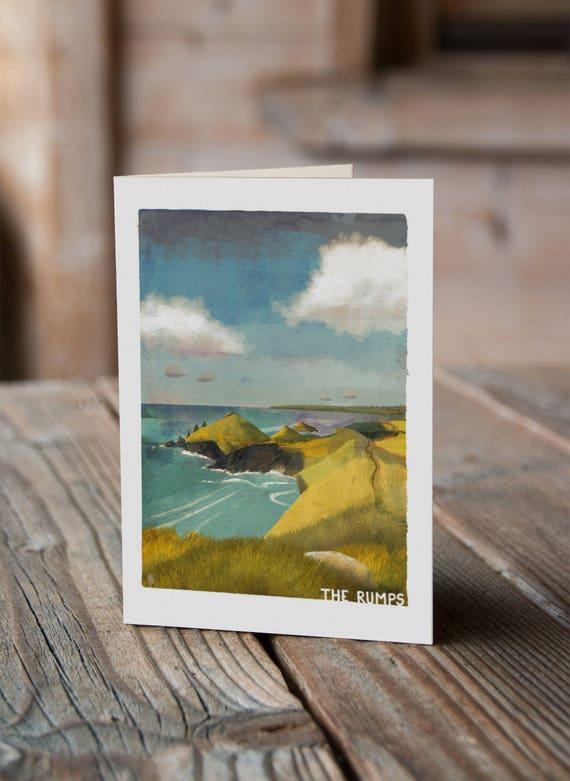 Cornish Coasts - The Rumps Greetings Card