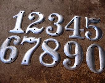Industrial Numbers, Vintage Metal Numbers, Aluminum Numbers, House Numbers, 1 2 3 4 5 6 7 8 9 0