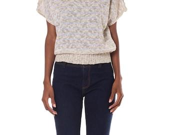 1980s Beautiful Mid Weight Knit Sweater      Size: XS-M