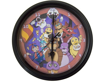 Five Nights at Freddy's - Wall Clock - Video Game Decor - Video Game Wall Art - Five Nights at Freddys Birthday Gift - Wall Art - Gamer Gift
