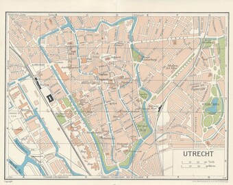 1961 Utrecht Netherlands (Holland) Vintage Map