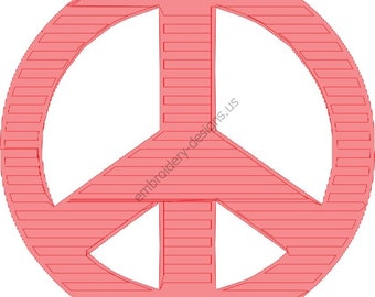Peace Sign Symbol Design Embroidery Fill Design Machine Instant Download