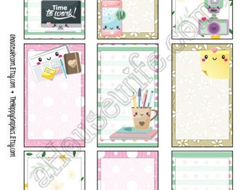 Time for work, Happy Planner stickers [35] , Full box, A5 PDF, Instant download