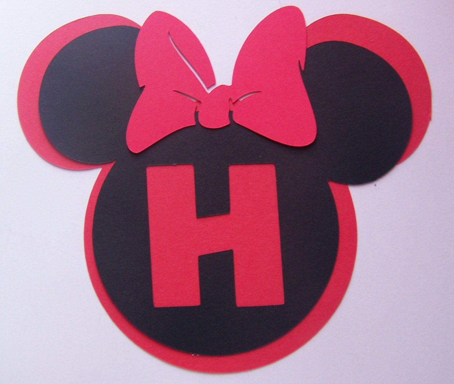 6 mickey mouse or minnie mouse monogrammed heads with your zoom biocorpaavc