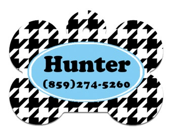Black and White pet tags, Personalized Pet ID Tag, Dog tags, pet id tags, cute pet tags,  double sided tags, id tags for pets