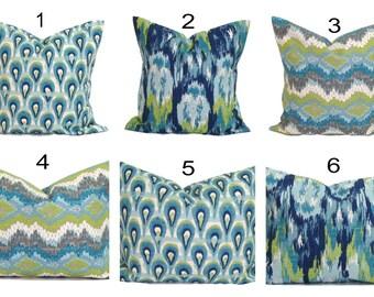 BLUE Pillow.Blue Pillow Cover, Decorative Pillow, Blue Throw Pillow, Blue Accent Pillow, Blue Cushion, Euro Pillow Sham, Euro Sham.All Sizes